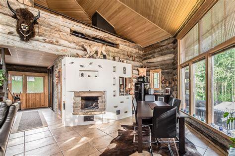luxury log cabin  finland