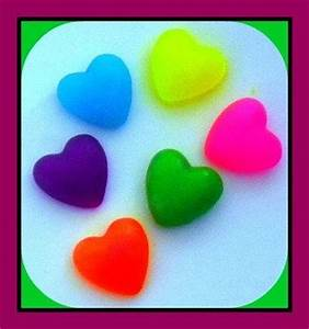 Soap Valentine s Day Puffy Hearts in Neon Colors 12