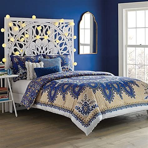 anthology bedding anthology marrakesh vibe comforter set in blue bed bath beyond