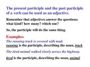 Past and Present Participles Examples