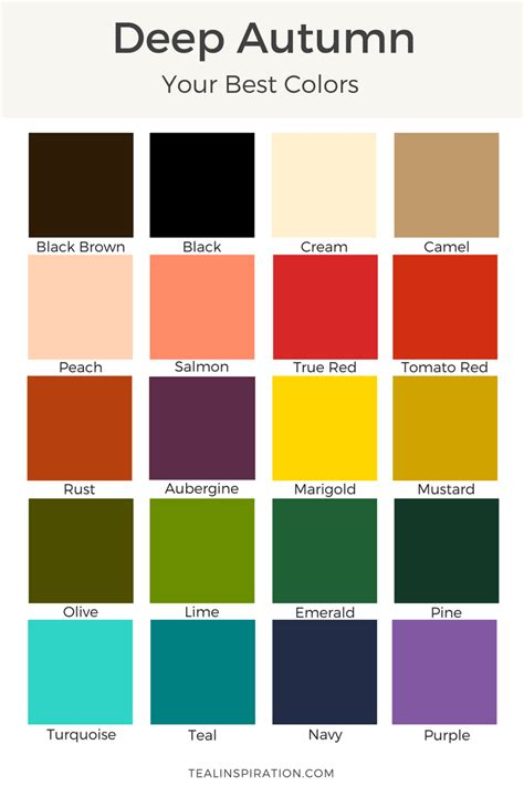 Palette Green All Seasons by Autumn Teal Inspiration