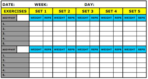 weight training log book what should be recorded in my workout journal physical