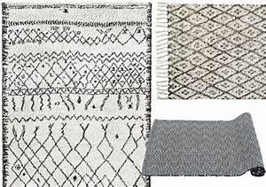 Tapis Noir Gris Blanc Maison Design