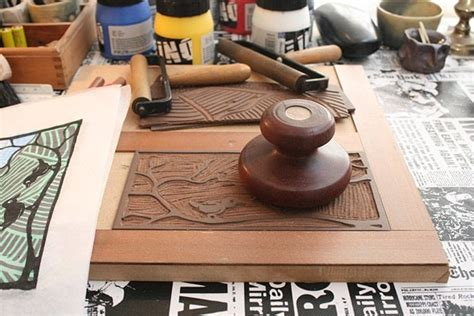 baren  wood  lino block printing  mafe  lumberjockscom woodworking community