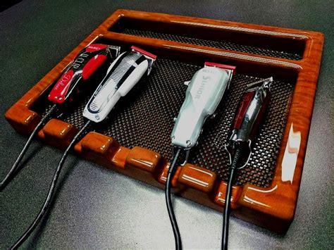 kayline wahl bt notch barber stylist table top clipper tray mocha