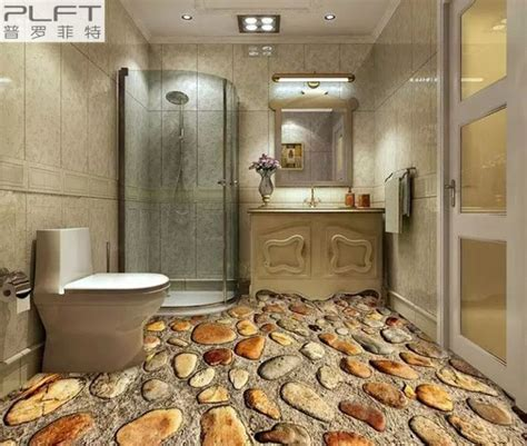 Brilliant 3D Floor Designs to Make a Small Bathroom Look