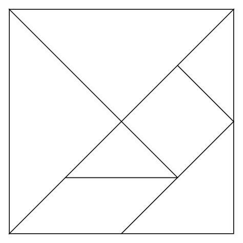 tangram template tangram magnets diy sweet