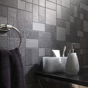 tile on a roll kitchen wallpaper black glitter tile wallpaper kitchen and bathroom tiling 9467