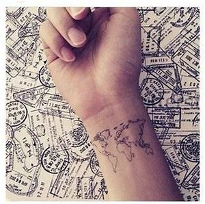 4. Tiny World Map - 25 of the Best Travel Tattoos in the ...