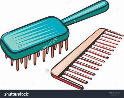 Comb Brush Clipart Combs Hair Clip Vector