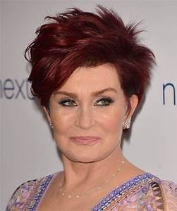 Sharon Osbourne Short Straight Casual Hairstyle Red Hair