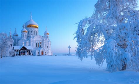 Ural Backgrounds by Belogorsky Monastery Russia In Winter Hd Wallpaper