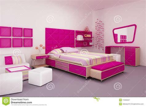 chambre à coucher fille chambre à coucher de fille photographie stock libre de