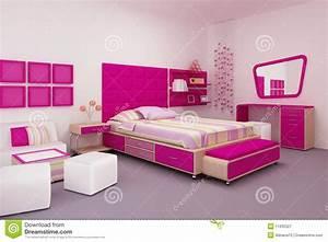 Couche Pour Ado Fille : de slaapkamer van het meisje stock illustratie illustratie bestaande uit binnenlands clean ~ Preciouscoupons.com Idées de Décoration
