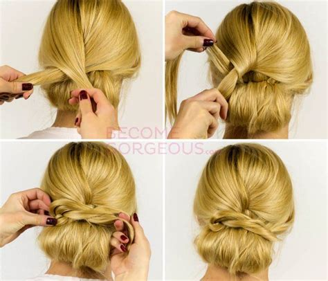 find out how to recreate is quick and easy updo that you