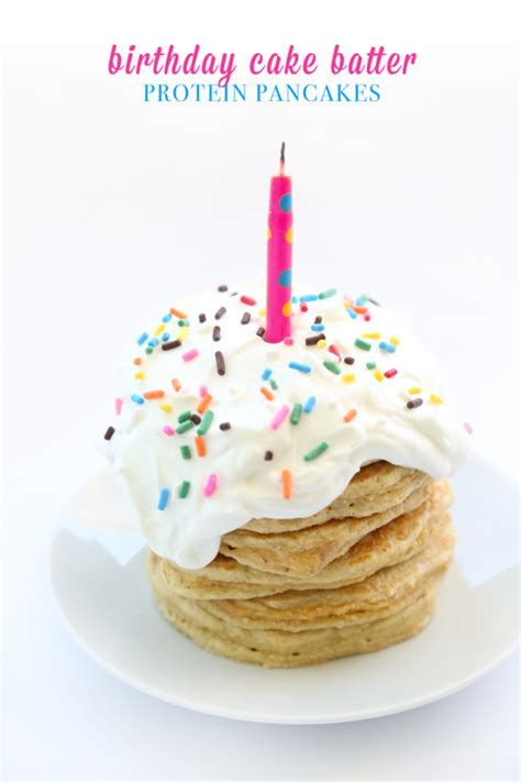 birthday cake batter protein pancakes rabbit food
