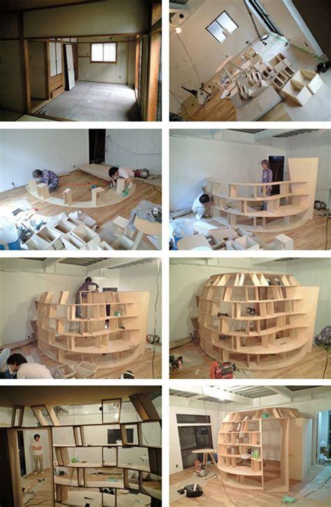 creative bedroom bookcasejpg  interior design