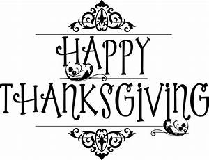 Black And White Happy Thanksgiving Clipart - ClipartXtras