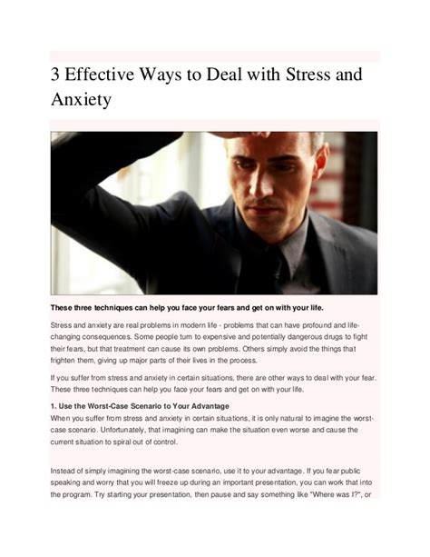 3 Effective Ways To Deal With Stress And Anxiety
