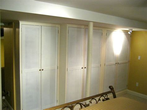 closet storage in basement organize