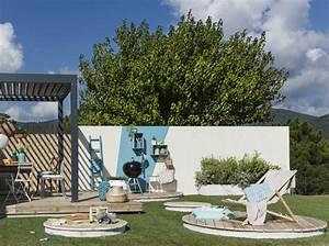 du bois rien que du bois pour ma terrasse elle decoration With terrasse jardin leroy merlin 1 une terrasse moderne pour profiter du jardin leroy merlin