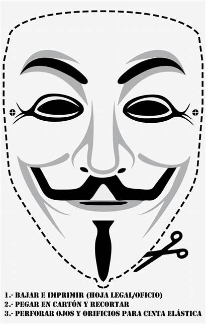 Fawkes Guy Carnaval Mascaras Mask Drawing Disfraces