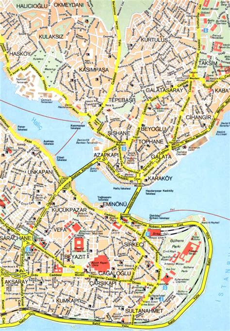 map  istanbul  printable maps