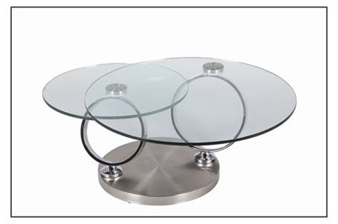chambre complete adulte design table basse design en verre ronde modulable