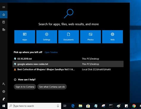 windows 10 search preview not working october 2018 update version 1809
