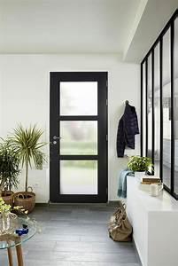 Porte Entree Vitree : porte d 39 entr e moderne lapeyre ~ Dode.kayakingforconservation.com Idées de Décoration