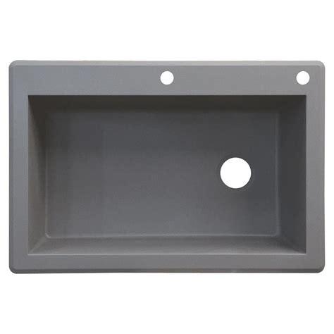 granite single bowl kitchen sink transolid radius drop in granite 33 in 2 single bowl 6892
