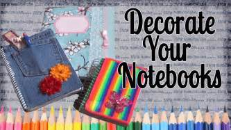 ideas to decorate your notebooks back to school