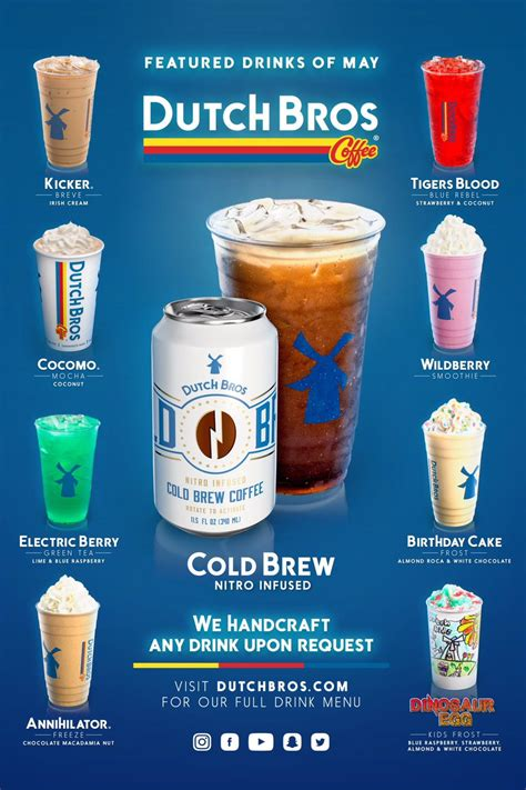 """See actions taken by the people who manage and post content. Dutch Bros Arizona on Twitter: """"Now introducing our 8 Featured Drinks of the Month!…"""