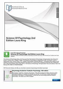 Science Of Psychology 2nd Edition Laura King