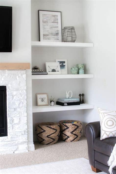 white living room shelves modern house