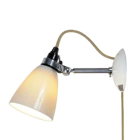 hector small dome wall light switch cable