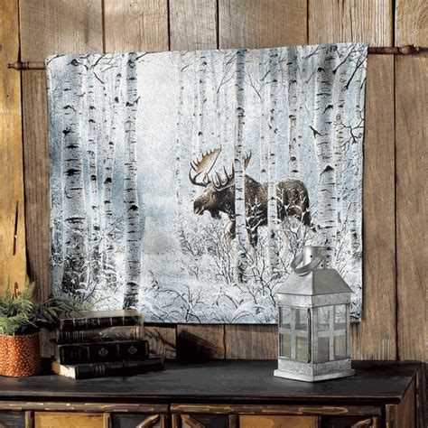 moose   move tapestry wall hanging