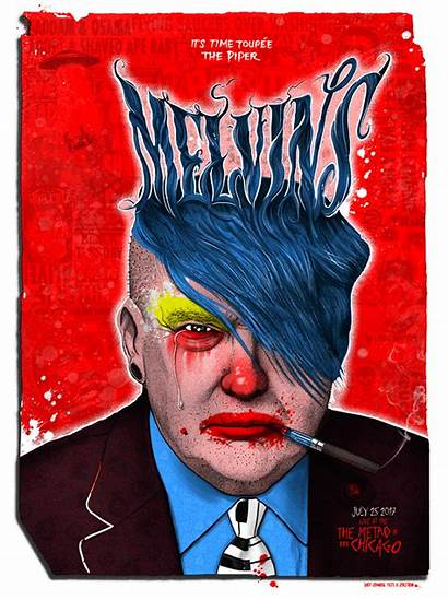Melvins Zoltron Poster Chicago Puscifer Yeti Zombie