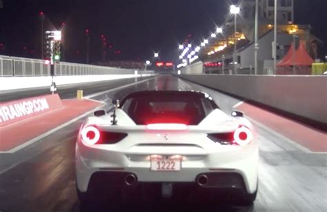 ferrari  gtb runs    mph drag racing  mile