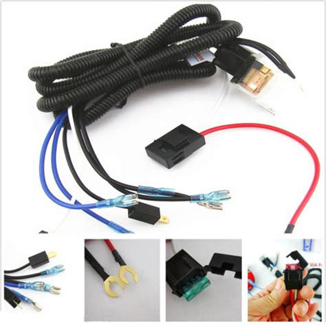 universal 12v horn relay wiring harness kit for grille mount blast tone horns car truck relay