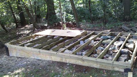today   build  level platform   shed sanki