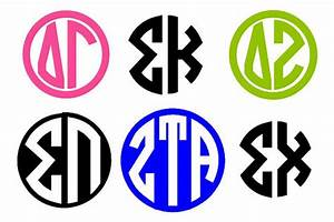 items similar to 3quot monogram greek letters on etsy With greek letter monogram