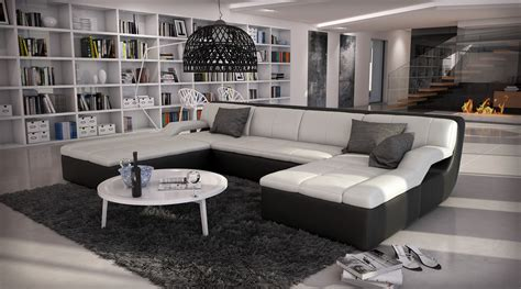 canaper design canapé d 39 angle design en cuir large 1 789 00
