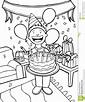 black and white clip art celebration of birthday - Clip ...