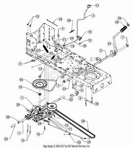 Troy Bilt 13wn77bs011 Pony  2017  Parts Diagram For Drive
