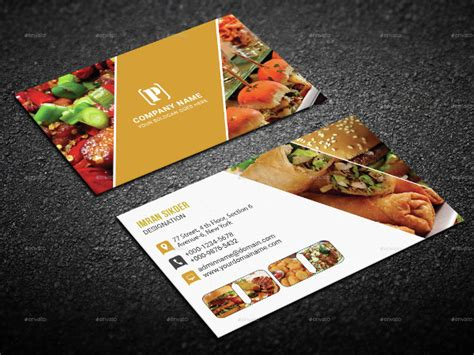 catering visiting card templates 25 restaurant business card templates free premium