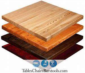 "Amish-Made Economy 1"" Plank Style Wooden Table Tops - Bar"