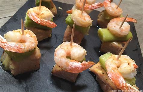 recettes cuisine corse bouchées de saumon aux crevettes et poireaux