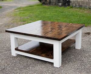 square coffee table with shelf solid wood farmhouse by With solid wood farmhouse coffee table