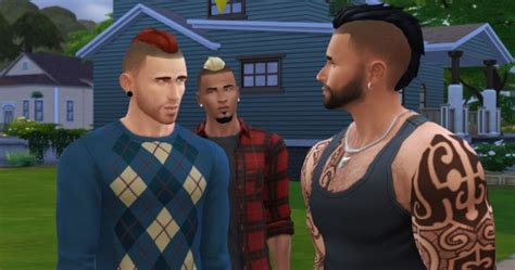 sims  hairs lumia lover sims short punk hawk hairstyle